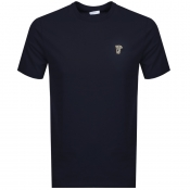 Versace Collection Medusa Logo T Shirt Navy