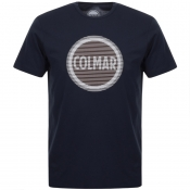 Product Image for Colmar Crew Neck Logo T Shirt Navy