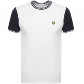 Product Image for Lyle And Scott Crew Neck Tipped T Shirt White
