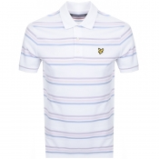 Lyle And Scott Multi Striped Polo T Shirt White