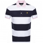 Product Image for Lyle And Scott Wide Striped Polo T Shirt Navy