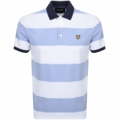 Lyle And Scott Wide Striped Polo T Shirt White