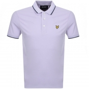 Lyle And Scott Tipped Polo T Shirt Lilac