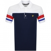 Product Image for Lyle And Scott Contrast Band Polo T Shirt Navy