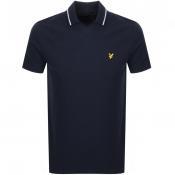 Product Image for Lyle And Scott Football Neck Polo T Shirt Navy