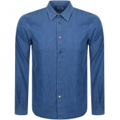 PS By Paul Smith Long Sleeved Denim Shirt Blue