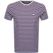 Product Image for Pretty Green Crew Neck Stripe T Shirt Blue