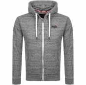 Superdry Orange Label Full Zip Hoodie Grey