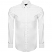 BOSS HUGO BOSS Long Sleeved Jivan Shirt White