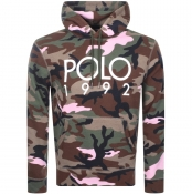 Product Image for Ralph Lauren Pullover Camouflage Hoodie Green