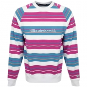 Billionaire Boys Club Stripe Logo Sweatshirt White