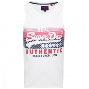 Product Image for Superdry Vintage Real Logo Vest T Shirt White