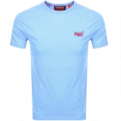 Product Image for Superdry Orange Label Fluro Grit Logo T Shirt Blue