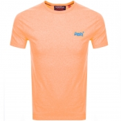 Superdry Orange Label Fluro Grit T Shirt Orange