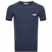 Superdry Orange Label Cali Stack Logo T Shirt Navy