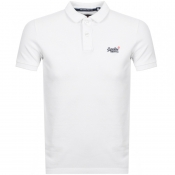 Product Image for Superdry Classic Polo T Shirt White