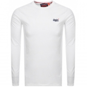 Superdry Vintage Long Sleeved T Shirt White
