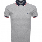 Product Image for Ralph Lauren Custom Slim Fit Polo T Shirt Grey