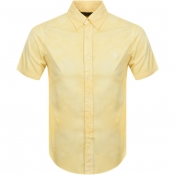 Product Image for Ralph Lauren Short Sleeved Custom Fit Shirt Yellow