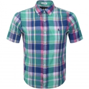 Ralph Lauren Short Sleeved Check Shirt Green