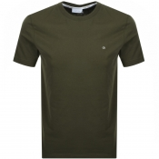 Product Image for Calvin Klein Small Logo T Shirt Khaki