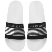 Tommy Hilfiger Woven Sliders Black