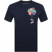 Product Image for Nike Crew Neck 90s Logo T Shirt Navy
