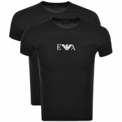 Emporio Armani 2 Pack Crew Neck T Shirts Black