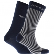 Emporio Armani 2 Pack Socks Navy
