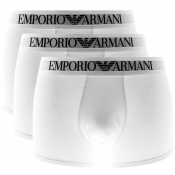 Emporio Armani Underwear 3 Pack Trunks White
