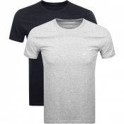 Product Image for Emporio Armani 2 Pack Crew Neck T Shirts Navy