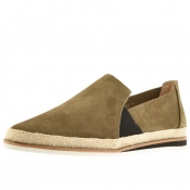 Sweeney London Ives Suede Espadrilles Khaki