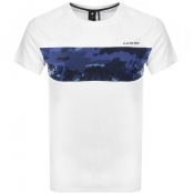 G Star Raw Crew Neck Camouflage T Shirt White