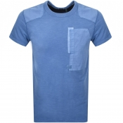 G Star Raw Crew Neck Arris Pocket T Shirt Blue