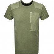 G Star Raw Crew Neck Arris Pocket T Shirt Sage