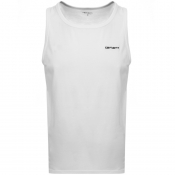 Product Image for Carhartt Script Embroidery Vest T Shirt White