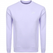 Product Image for Nike Crew Neck Club Sweatshirt Purple
