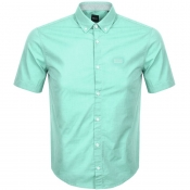 Product Image for BOSS Athleisure Biadiar Short Sleeved Shirt Green