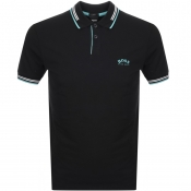Product Image for BOSS Athleisure Paul Curved Polo T Shirt Black