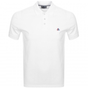 Moose Knuckles Short Sleeved Pique Polo White