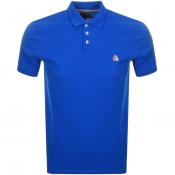 Moose Knuckles Short Sleeved Pique Polo Blue