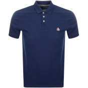 Moose Knuckles Short Sleeved Pique Polo Navy