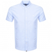 Pretty Green Short Sleeve Oxford Shirt Blue