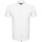 Pretty Green Short Sleeve Oxford Shirt White