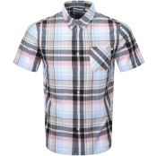 Timberland Short Sleeved Madras Shirt Brown