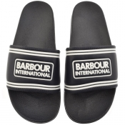 Barbour International Pool Sliders Navy