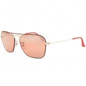 Ray Ban 3136 Caravan Sunglasses Red