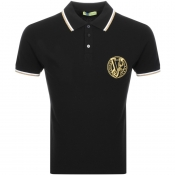 Versace Jeans Short Sleeved Polo T Shirt Black