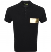 Product Image for Versace Jeans Short Sleeved Polo T Shirt Black