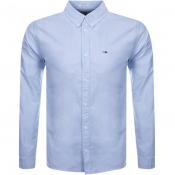 Product Image for Tommy Jeans Long Sleeved Oxford Shirt Blue